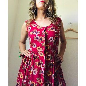Vintage Floral dress size M.